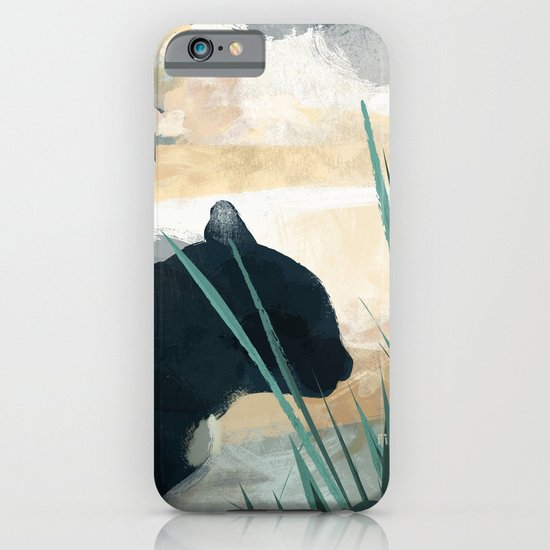 Skelly Cat in the Grass iPhone & iPod Case
