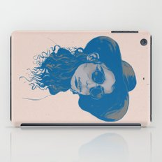 Woman in Hat and Sunglasses iPad Case