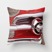 Candy Apple Red Throw Pillow