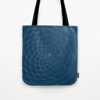Honey Twist Blue Print Tote Bag