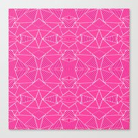 Ab Zoom Mirror Fushia Canvas Print