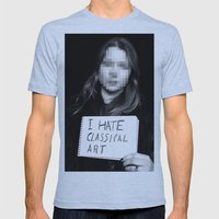I Hate Classical Art Mens Fitted Tee Athletic Blue SMALL