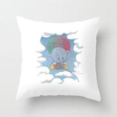 Elephant balloon Throw Pillow
