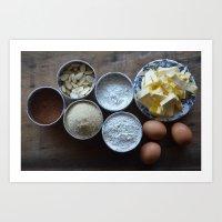 Cake ingredients Art Print