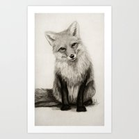 Fox Say What?! Art Print