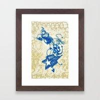 Stars and Lines Framed Art Print
