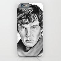 sherlock iPhone & iPod Cases featuring Sherlock by 13 Styx