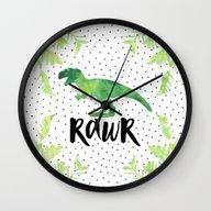 Rawr Wall Clock