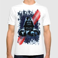 Darth Vader Mask On Dark… Mens Fitted Tee White SMALL