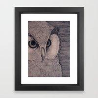 Owl Eyes Framed Art Print