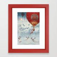 WinterFly Framed Art Print