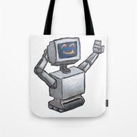 Happy Bot Tote Bag