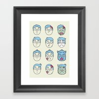 Monster Mash Up Framed Art Print