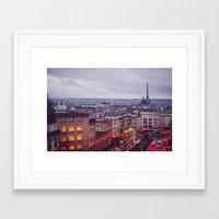 Rainy Paris. Framed Art Print