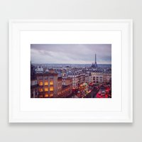 Rainy Paris. Framed Art Print