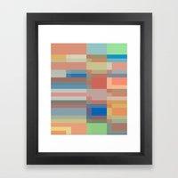 Retro Colors Framed Art Print