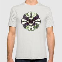Eggplant Bloom Mens Fitted Tee Silver SMALL