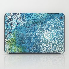 Swirly Deep Blue Sea iPad Case