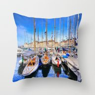 St Tropez Sails Throw Pillow