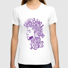 Dearly Beloved Prince Womens Fitted Tee White SMALL