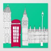 Capital Icons // London Red Telephone Box Canvas Print