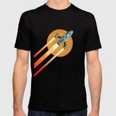 Rocket:  2nd Star to the right  LLAP SMALL Mens Fitted Tee Black