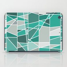 Turquoise and grey iPad Case