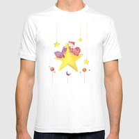 Baby star Mens Fitted Tee White SMALL