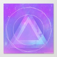 Galaxy triangle Canvas Print