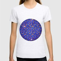 Blue Sub-atomic Lattice Womens Fitted Tee Ash Grey SMALL