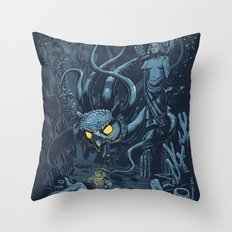Defender of the Deep  Throw Pillow
