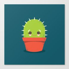 Kawaii Cactus Dude Canvas Print