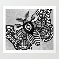 Moths Art Print