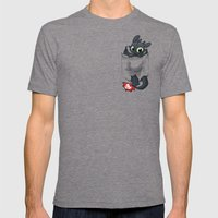 Pocket Pal Mens Fitted Tee Tri-Grey SMALL