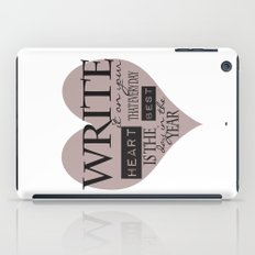 Write It On Your Heart Design iPad Case