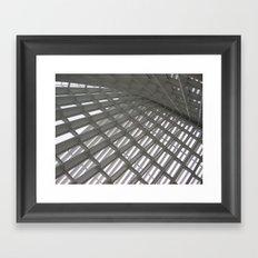 glass roof Framed Art Print