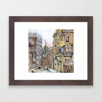 Winter in Moscow Framed Art Print