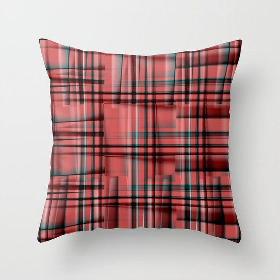 Pattern red 1 Throw Pillow