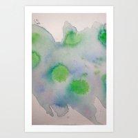 Lime Burst Art Print