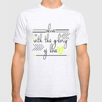 Alive with the Glory of Love Mens Fitted Tee Ash Grey SMALL