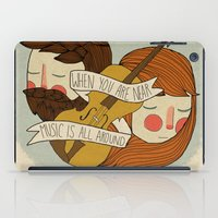 Music Is All Around iPad Case