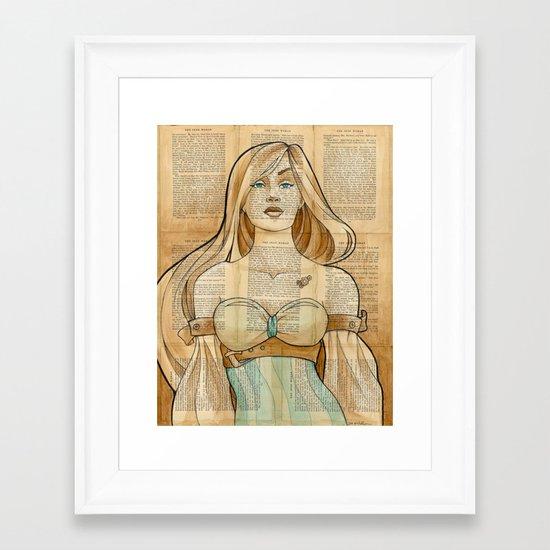 The Iron Woman 8 Framed Art Print