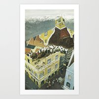 Holland Tourists Art Print