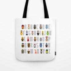 Pixel Muppet Show Alphabet Tote Bag