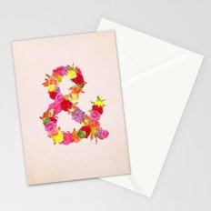 Flower Ampersand Stationery Cards
