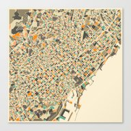 BARCELONA MAP Canvas Print