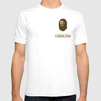 A Laughing Chimp Mens Fitted Tee White SMALL