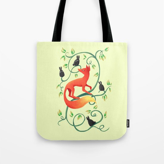 Bunnies and a Fox Tote Bag