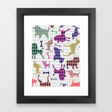 Houndstooth Hounds Framed Art Print