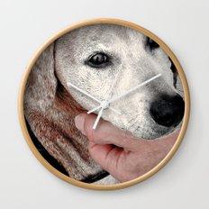 Portrait of a Dachshund Wall Clock